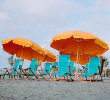 Leżaki i parasole